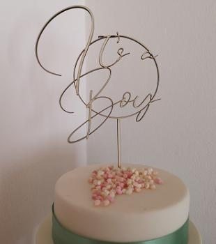 "Cake Topper ""It`s a Boy"""
