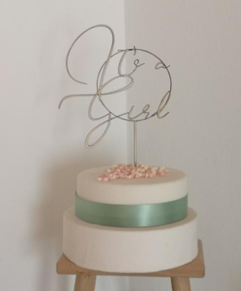 "Cake Topper ""It`s a Girl"""
